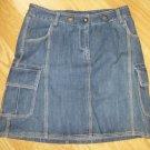 MERONA*Jeans Mini Skirt*Solid*6 pockets*Blue*Size 4*100% Cotton*