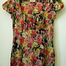 Ann Taylor LOFT*Puffed Short Sleeve*Square Neckline*Floral Design*Multi-Color