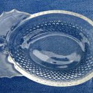 Christmas Clear Glass Holly Berry Trinket*Candy Dish*6.5'' X 4''