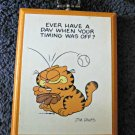 VIntage Enesco Jim Davis Garfield Cat Wall Decor Hanging Wood Plaque 1983