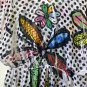Crimson Ivy Size S Women's V-neck Butterfly Style Sleeves Casual Top Beaded