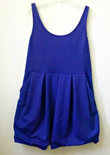 AEROPOSTALE Size XL  Sleeveless Mini Ponte Dress Blue Back Zipper Two Pockets