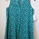 NWT Petites Crown&Ivy Size PP Mint Green Sleeveless Top Split V-Neck Hi-Low