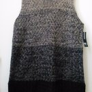 NWT New Directions Size M Sleeveless Knitted Long Sweater Crew Neck Side Slits