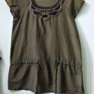 Sintesis Induyco by Tomas Breton Spain Size S ?? Short Sleeve Crochet Detail Top