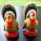 Vintage Unused Set of 2 Thanksgiving Turkey Candles 4'' Tall