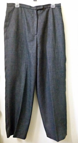 Larry Levine Size 16  Classics 2 Pockets Gray Casual Pants Polyester Inseam 28''