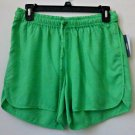 NWT Crown&Ivy Size XS Beach Solid Green Shorts Elastic Waist Not Lined RP $40
