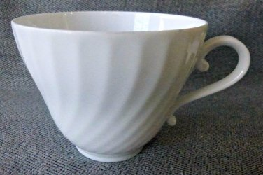 Kaiser Nicole Set of 3 Swirl White Tea Coffee Cups Porcelain W.Germany