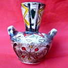 VTG ?? Vase with Handles Ceramic Embellished 5'' Tall