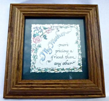 Audrey Jeanne Roberts �ncauraging Words My Mother Print- Quote Calligraphy