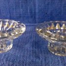 SET of 2 Kig Malaysia Darby Crystal Votive/ Taper Candle Holders Tabletop