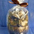 NW/T Owl Shape Medium Candle Wax Cinnamon Scented 7'' Tall Made in Vietnam