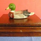 VTG 1982 2 Albert Price ??? Deck Playing Cards in Wooden Box with Duck Figurine