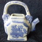 Chinese Blue and White Porcelain Tea Pot Floral