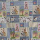 $45.50   Hand-tied Cotton Quilt-60X43-Pajaminals Collage-Polyester Batting-Animals on Reverse.