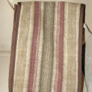 $50 Striped Cotton Canvas Shoulder Bag-9 X 12 inches Gold-Brown-Maroon-Olive Green-Detatchable Strap