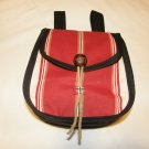 $22.50Belt Pouch – Burgundy Stripes Trimmed in Black 7 ½  X 7 X 3 inches