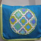 $45 SALE ITEM-One Of A Kind Turquoise and Spring Green Shoulder Bag-Crossbody Bag-11 X 9 1/2 inches