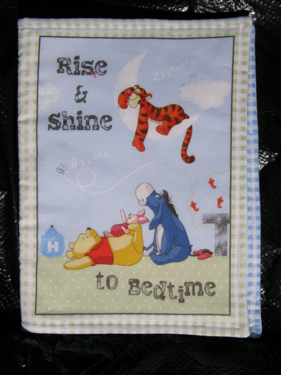 """$20.50 Cloth Book 7X10-""""Rise & Shine"""" 10 Pages-With Winnie The Pooh And Friends-Machine Washable"""