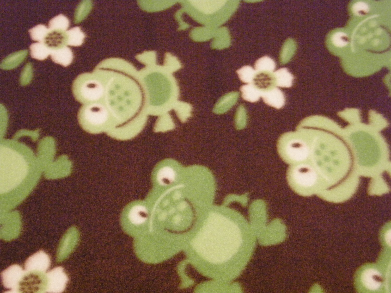 """$21.75  Antipill Fleece Throw 45"""" x 45"""" Green Frogs - and 14"""" X 14"""" Lovey For the Child to Hold"""