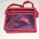 $59.50 Red Hat Ladies 8X10 Shoulder Bag Hat Ribbon Applique Purple Stylized Rope Top Stitching