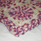 $98.75 Ultra Plush Multi Magenta and Off White Afghan Entirely of Soft Purl Essence Acrylic Yarn