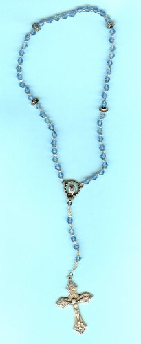 Handmade Blue and Silver Rosary Beads