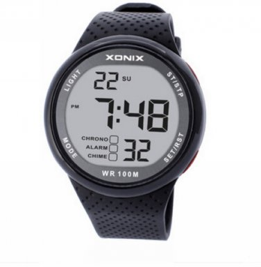 XONIX Men Sports Watch Digital Waterproof 100m Swim Led Light Outdoor Wristwatch