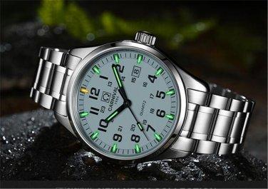 Carnival Men Tritium light Watch T25 Quartz Date Luminous Military Wristwatch