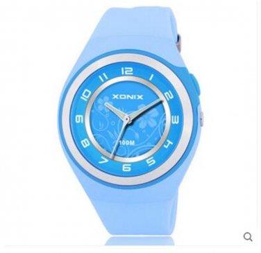 Xonix Women Girls Dress Watch Quartz Analog LED Light WR100m Outdoor Sport Watch