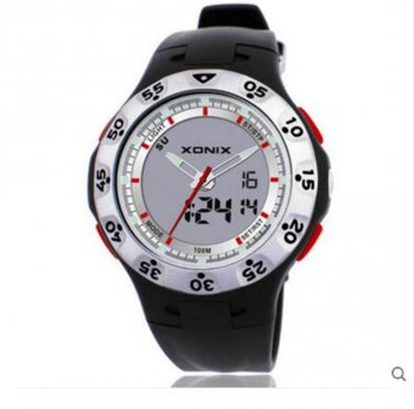 xonix Men Sports Watch Dual Display WR100M Digital Quartz Outdoor watch