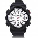 xonix Men Sports Watch Quartz WR100M LED light Rubber strap Boy Swim watch