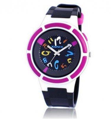 Xonix Boys Girls Sports Watch Quartz Analog LED Light WR100m Outdoor Swim Watch