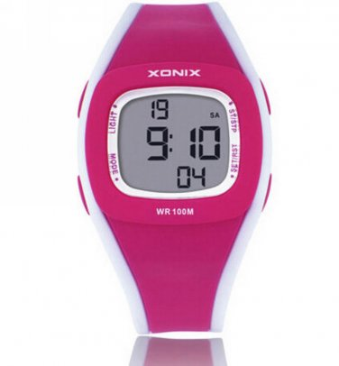 Xonix Girls Sports Watch Digital WR100M  Led Light Outdoor Swim Multifunction