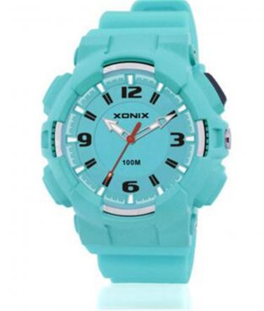 Xonix Women Girls Sports Watch Quartz Analog LED Light WR100m Outdoor Swim Watch