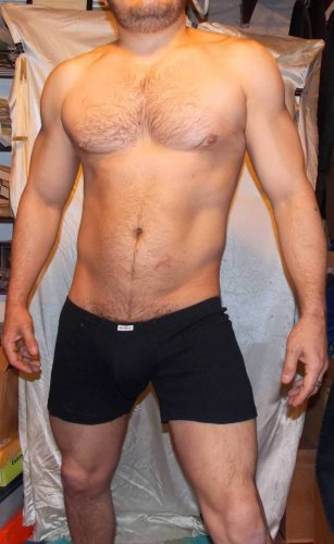My NDS (XL) ULTRA LOW-rise sexy gently preowned black CTTN stretch boxer briefs -Free S&H