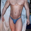 "*OUT OF STOCK UNTIL FURTHER NOTICE* Size L (31-37"") Sexy LOW rise Bluish-Gray mesh thong"