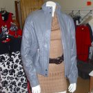 Ladies grey Boxfresh leather jacket, BNWT, size small/6-8.