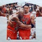 Jordan and Pippin Flu Game custom dryfit shirt