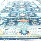 Oriental Rug Antique Mahal Solat Navy Blue Hand Woven  Vege Dye  100% Wool Approximately 16' x 24'