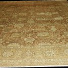 Oriental Rug Antique 1900s Persian Tabriz Mocha Background Beige Border