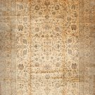 Oriental Rug  Antique 1900s Persian Kashan Orange Beige Background & Border  All Over Design