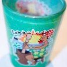 CUBA Green Glass Bar Shot Glass Souvenir Collectible