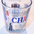 CHICAGO CLEAR Glass Bar Shot Glass Souvenir Collectible CUP