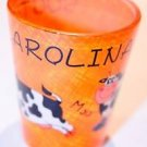SOUTH CAROLINA Orange COWS Moo Bar Shot Glass Souvenir Collectible