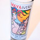 MAYA SUTRA Playa del Carmen MEXICO Long BAR SHOT GLASS Souvenir Collectible