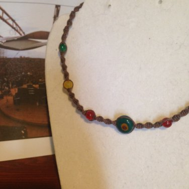 Red & Yellow Hemp Necklace