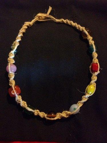 Hemp Necklace w/ Variety Stone Pendants
