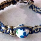 Blue & Natural Hemp Bracelet